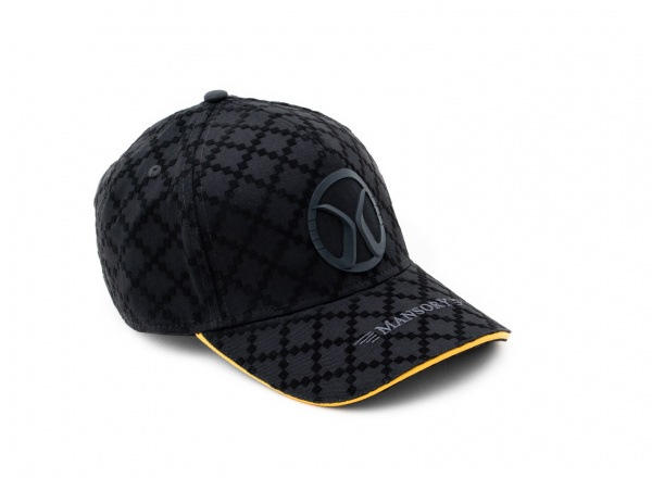 Baseballcap full flock Black / Yellow