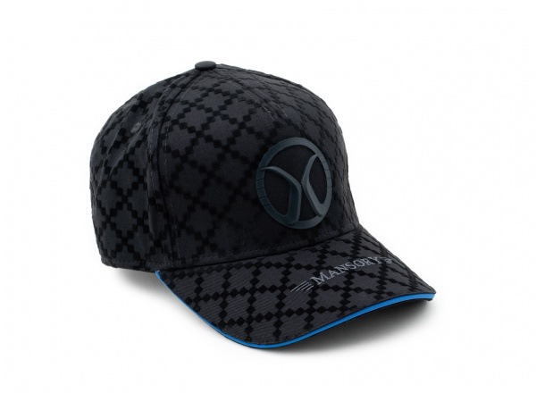 Baseballcap full flock Black / Blue