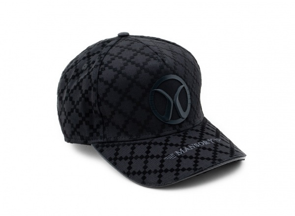 Baseballcap full flock Black / Carbon