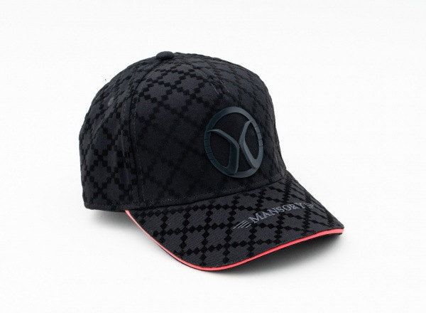Baseballcap full flock Black / Red