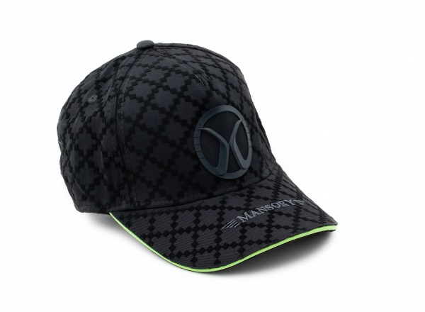 Baseballcap full flock Black / green