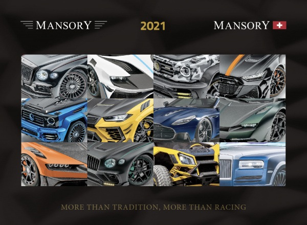 The MANSORY 2021 Calendar Annual Limited Edition